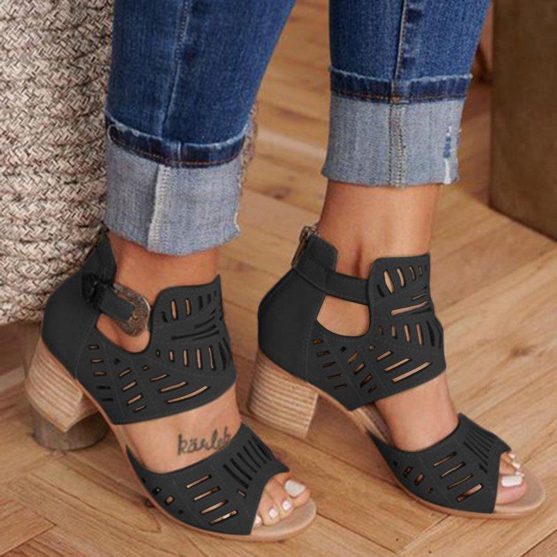 WENYUJH Sandals Womens Platform Ankle High-Heel Ladies Wedges Strape Woman De Mujer Zapatos