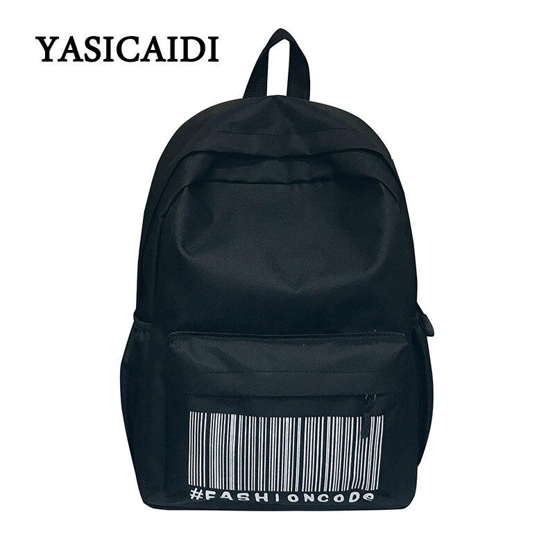 Школьный женский холст рюкзаки для школы-подростков для девочек 2018 Новая мода кредита жесткие сумки для студентов Bagpack Повседневное сумки