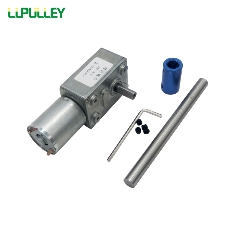 LUPULLEY Turbo Worm Geared Motor JGY370 DC 6V/24V/12V Reversible Rotation 2/6/10/18/30/40/90/150RPM Long Shaft Dia,6/8mm coulper цена
