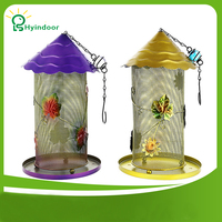 Bird Feeder Hanging Wild House Metal Garden Backyard Decoration Gift Mesh Iron Feed Outdoor Seed Food supplies automatic