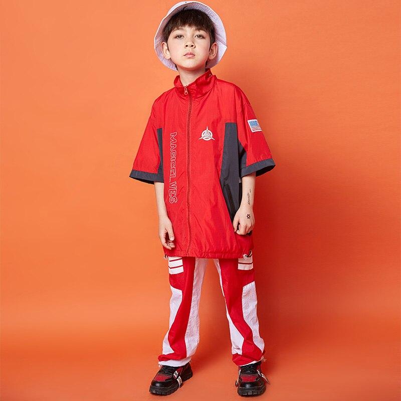 New Children'S Jazz Dance Costume Boys Modern Dance Costume Show Dance Outfit For Boys Hip-Hop Performance Dance Costume DQS2074