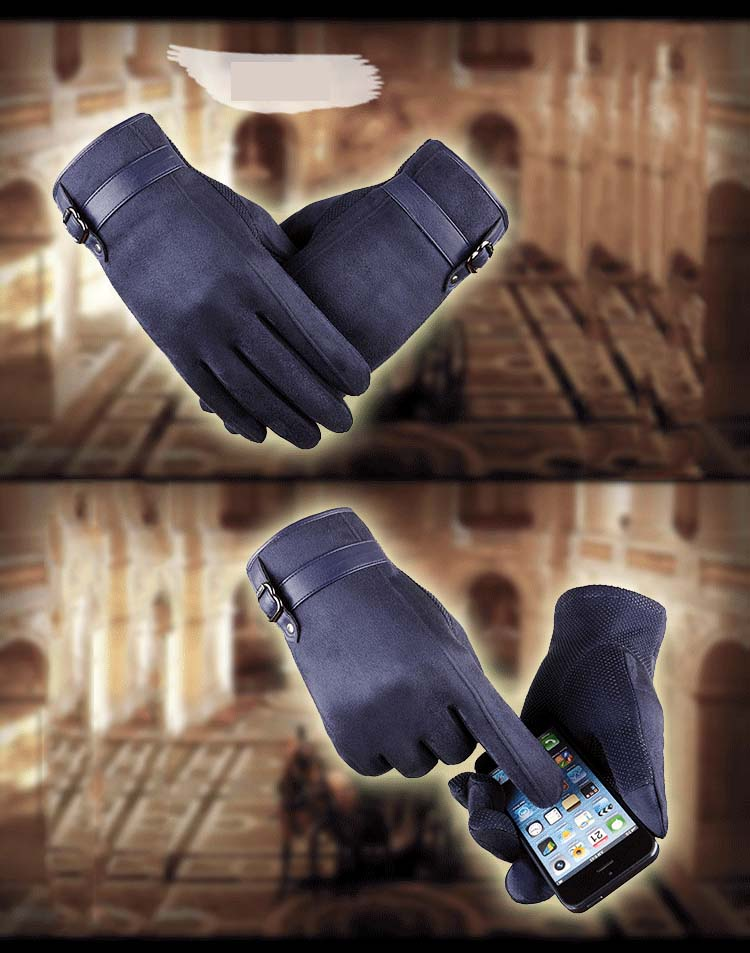 GLV993 New arrival touch screen font b gloves b font with thick warm fleece cycling driving