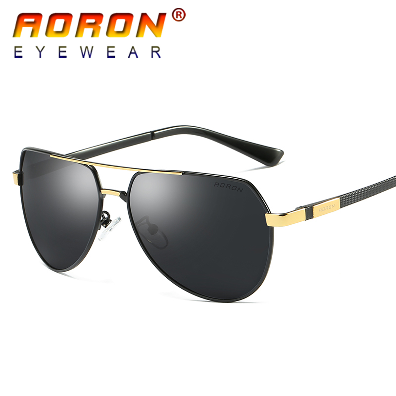 AORON Brand Polarized Sunglasses Goggles Men s Designer Mirror Glasses font b Eyewear b font Accessories