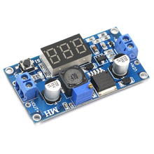 LM2596 DC понижающий модуль преобразователя питания DC/DC 4,0~ 40 В до 1,25-37 в 2A Регулируемый регулятор напряжения с светодиодный вольтметр