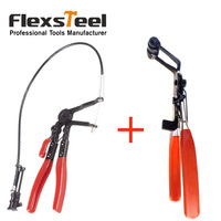 Auto Vehicle Car Repairs Tools 45 Degree Angle Bent Nose Hose Clamp Pliers +Cable Type Flexible Wire Long Reach Hose Clip Pliers