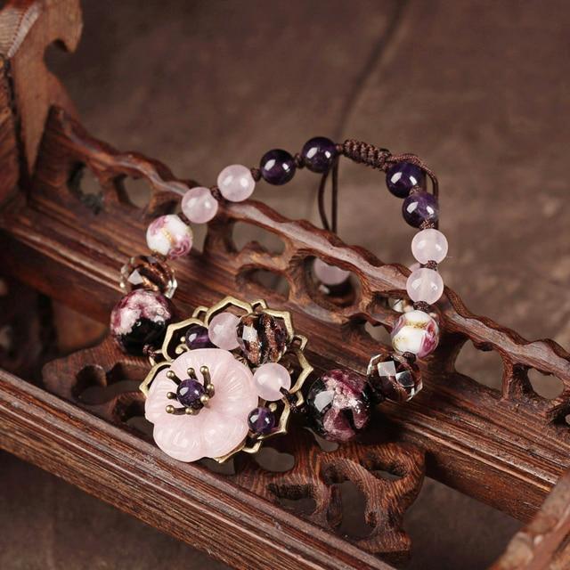 Us 19 0 Bracelets G Colour Bangles Ceramic Friendship Fresh Sweet Bracelet For Women Adjule Jewelry Gift Vintage In