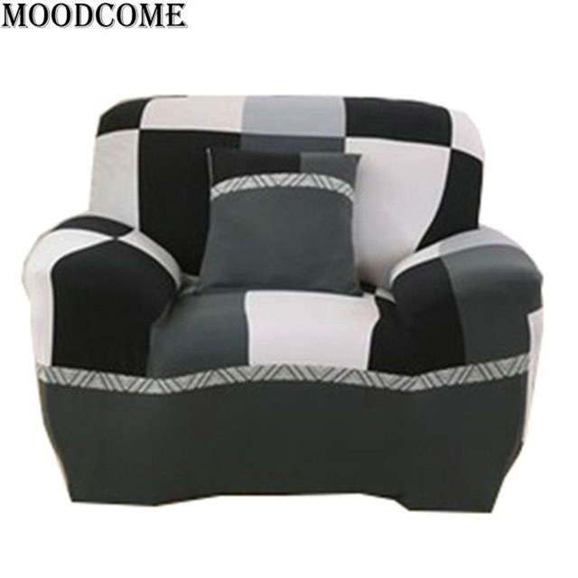 Black White Fabric Sofa Cover Stretch Zitbanken Removeable Elastic New Sofa  Covers For Living Room