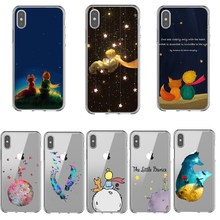 Cartoon king The Little Prince earth space fox Clear Silicone Phone Case Cover For iPhoneX10 5 5s SE 6 6SPlus 7 8 Plus XR XS MAX цена