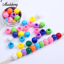 5mm big hole Acrylic Round Beads For Jewelry Accessories Multicolor Handmade gift for children DIY Bracelet necklace accessories