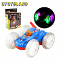 UTOYSLAND 180 Degree Swivel Remote Control RC Aerobatic Turbo Twister Stunt Car with Flashing Lights and Music Kids Toys Gift