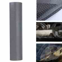 106 x 28 cm Tinting Perforated Mesh Film Fly-Eye Legal Tint Headlight Rear Light(China)