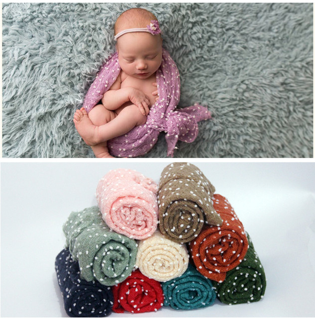 Newborn photography props wrap cloth with headbands blanket photography bobble wrap backdrops newborn photography props blanket