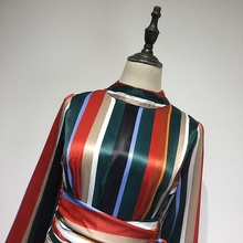 Multicolor Stripe Satin Shirt