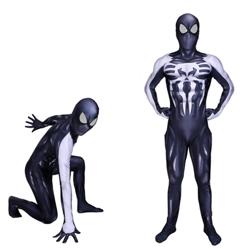 Raimi Spiderman Kostuum Costume Spider-Man 2099 Miguel O'Hara 3D Print Fullbody Halloween Cosplay Suit For Adult/Kids/Custom