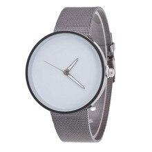 Reloj hombre marca de lujo nuevos Mens del diseño Del Reloj de estilo clásico Malla de Metal Unisex de Cuarzo de Moda Banda Reloj de Pulsera 2016 de la venta caliente