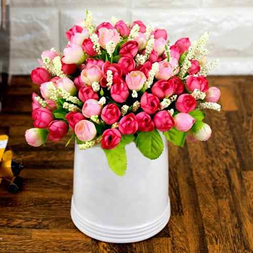 1 Bouquet 15 Heads DIY Handmade Wedding Party Home Decoration Artificial Rose Flowers Artificial Flower Wedding Decoration