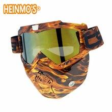Casco moto D'epoca Motocross Occhiali Anti Fog Motoslitta Goggle Retro Maschera Casco Da Corsa Sciare Occhiali Occhiali gafas
