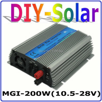 200W Grid Tie Inverter,10.5V 28VDC,18V Solar Panel, MPPT function, 90V 260V Pure Sine Wave Output, Micro On Grid Tie Inverter