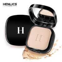 HENLICS Makeup Face Pressed Powder Foundation Mineral Waterproof Whitening Brighten Matte Powder Palette Contour Makeup Powder