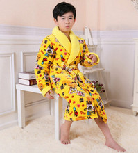 Boys/Girls Kwaii Cartoon Doraemon Printed Winter Robes