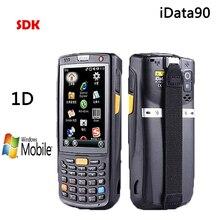 IData90 Windows Mobile 6,5 ручной промышленности мобильный терминал для 1D 2D сканер штрих-кода с WI-FI Bluetooth2.0 IP65 4000 мА-ч