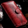 Kisscase patrón de piel de serpiente de la vendimia de lujo caso para iphone 7 6 s 6 caso de cuero cartera de la moda para iphone 7 plus 6 6 s plus