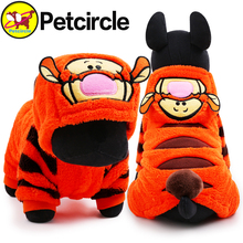 petcircle 2016 hot sale pet dog cat clothes tiger dog winter coats warm dog hoodies for chihuahua small and large dog costumes