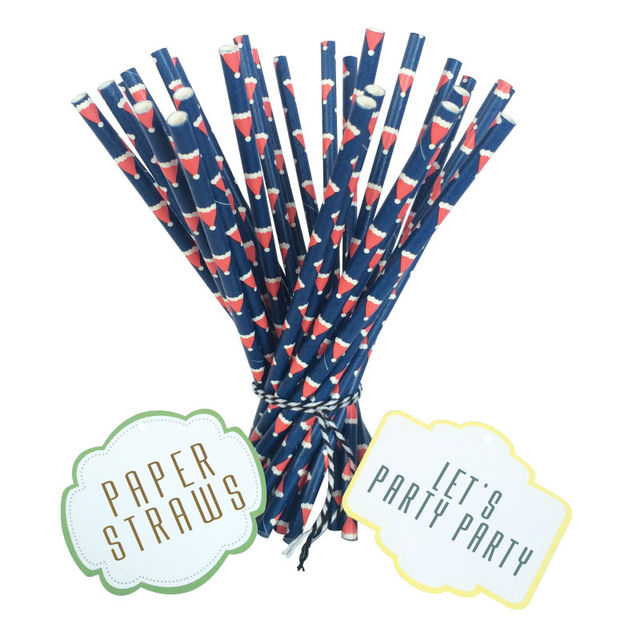 """300 Assorted Designs of 7.75"""" Groovy Paper Straws in OPP Packaging (40 packs/1,000 pcs)"""