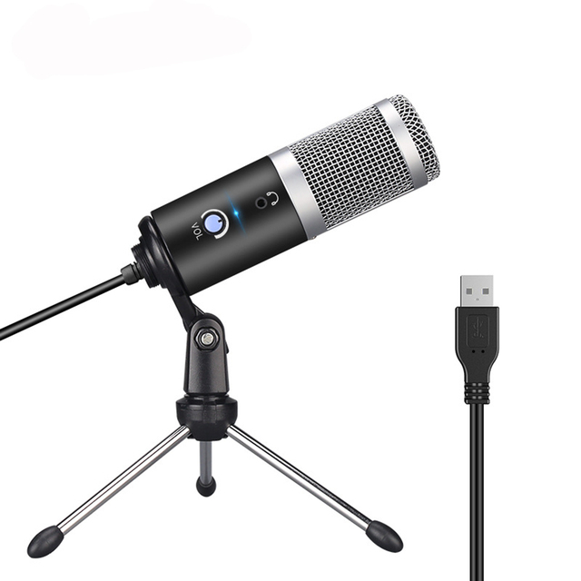 USB Plug and Play Microphone For Computer YouTube Skype Studio Live Broadcasting Microphone microphone Youtubers Vocal Recording