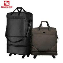Hanke 91L раздвижные чемоданы, складная Мужская багажная сумка с замочком, дорожная сумка для женщин, вращающаяся спортивная сумка на колесиках, мужские сумки T637