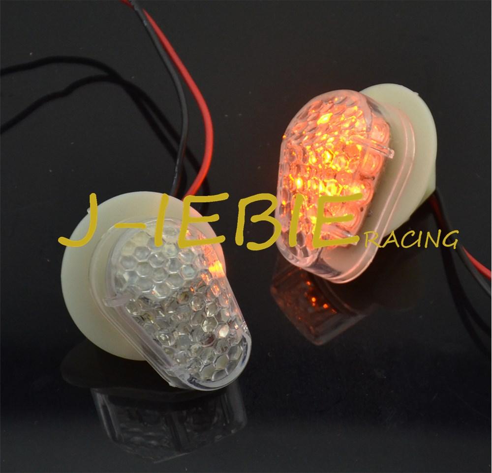 Clear Flush Mount LED Turn Signal Light For Yamaha YZF R1 R6 2002-2008 YZF R6S 2006-2008 FZ1 2003-2007 FZ6 2004-2007