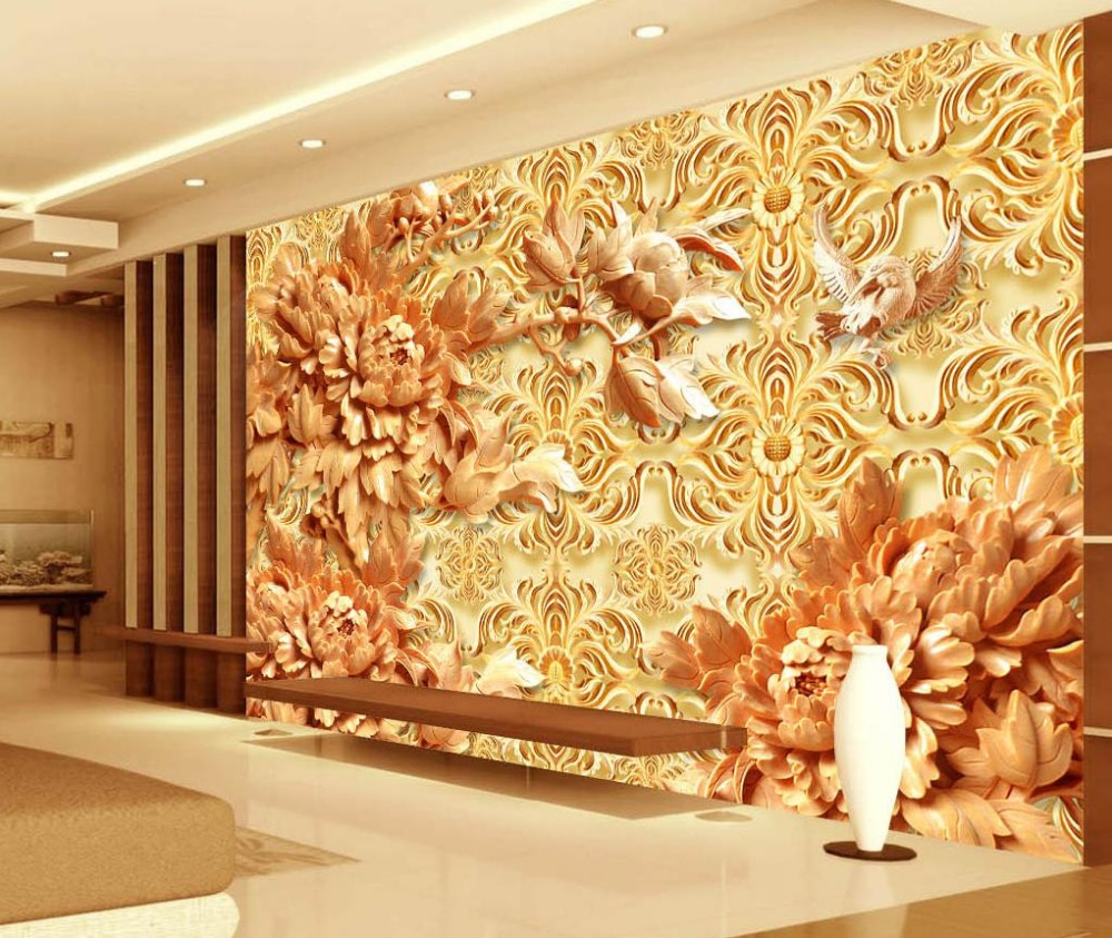 3d Wallpaper Custom Photo Wallpaper Mural 3d Chinese Style Relief
