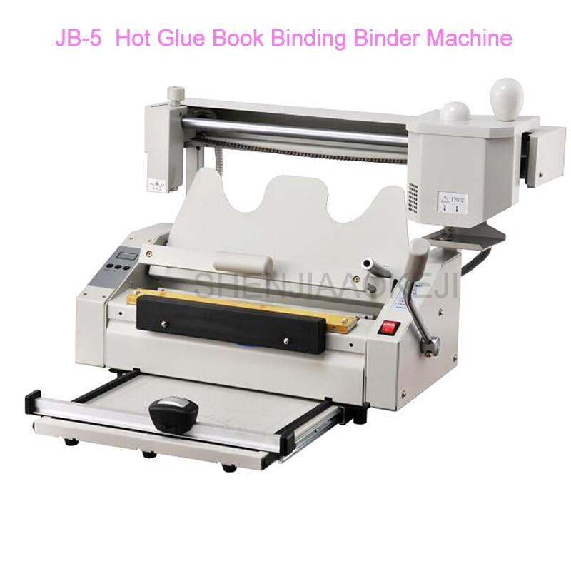 RD-JB-5 A4 Book Binding Machine Hot Melt Glue Book Paper Binder Puncher 220V/110V High Speed Binding