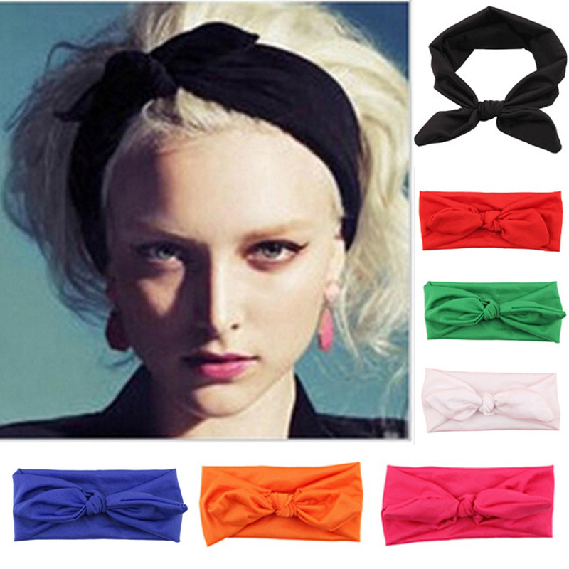 Ear Elastic Headband For Woman Girl Knot Bandage Hairband Turban Headbands Headwrap Bandana Headwear Hair Accessories Outdoor