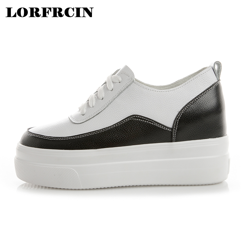 Platforms Shoes For Women Genuine Leather Women Casual Shoes Height Increasing Plus Size 34 42 White Shoes Women Sneakers 2018-in Women's Vulcanize Shoes from Shoes on AliExpress - 11.11_Double 11_Singles' Day 1