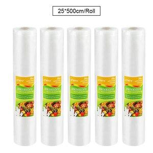Image 3 - 5 Rolls/lot Vacuum Sealer Bags Food Packaging Sealing Machine Packer Packing Sachet Plastique Saver 12/17/20/25/28*500cm