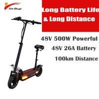 48V500W 2019 электрический скутер с сиденьем Мотор колеса литиевая батарея для взрослых самокат складной patinete electrico adulto