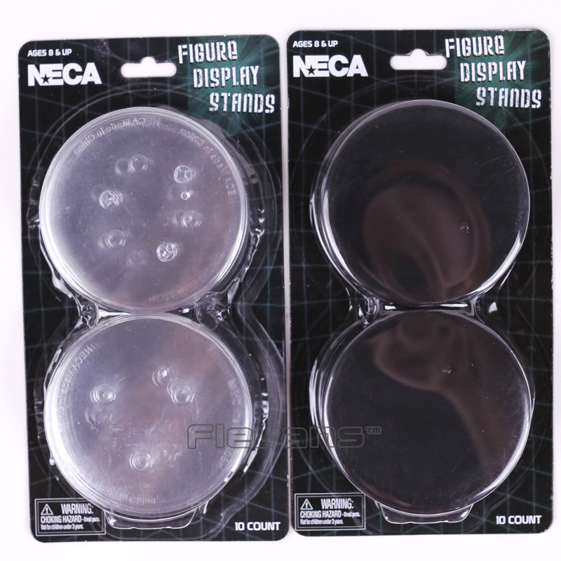 NECA Figure Display Stands Compatible with Most 6-9 Action Figures Black/White 10pcs/dozen