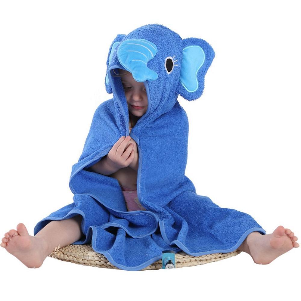 Детское банное полотенце с квадратным капюшоном с изображением совы и лисы/пляжные полотенца для детей - Цвет: elephant