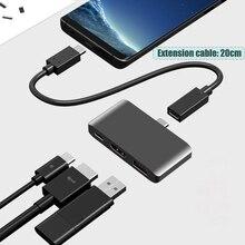 BFOLLOW 3 in 1 Dex Station Samsung S8 S9 S10 artı/not 8 9 10 Pro Pad PD adaptör tipi C için HDMI için Huawei