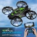 Mini rc quadcopter drone fpv wifi 200 w cámara de 2mp hd timely 2.4 GHz UFO Helicóptero JXD 515 W Hélice Arriba y Abajo toda la protección
