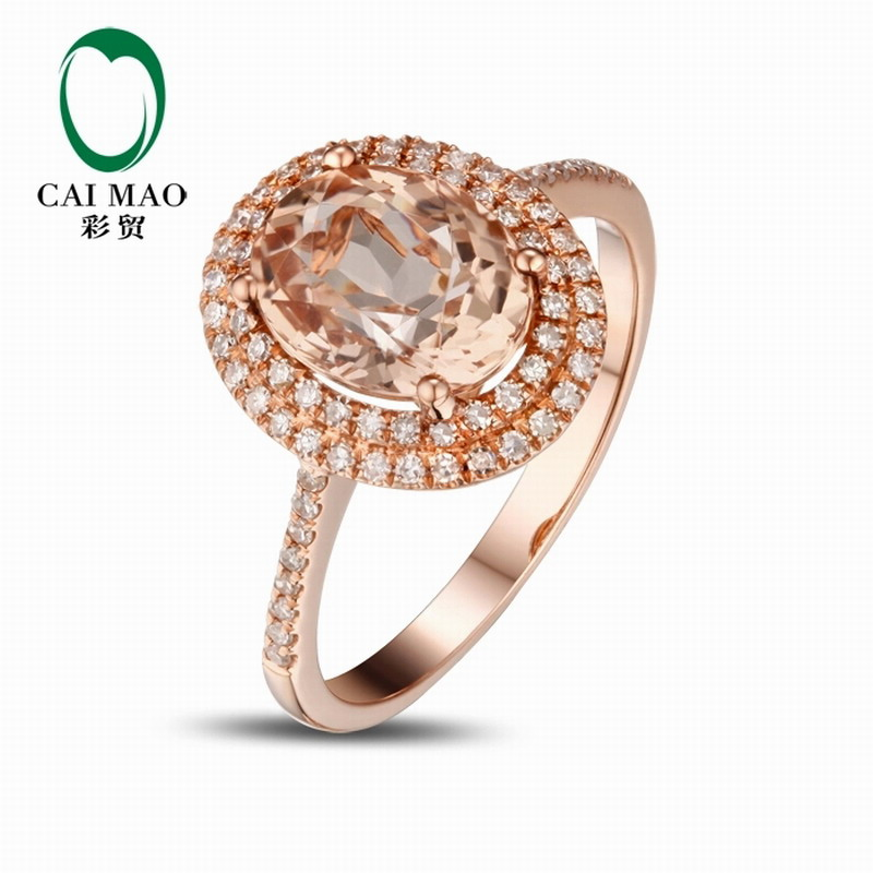 Caimao 14kt 585 rose gold 2 2 ct natural morganite for Lindenwold fine jewelers jewelry showroom price