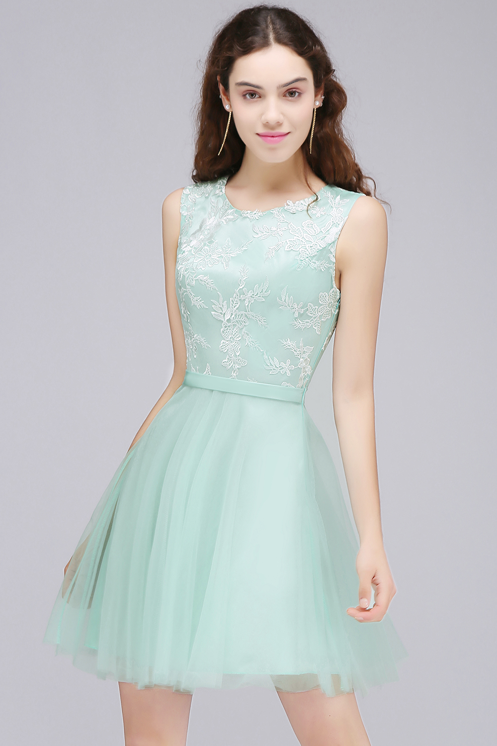 Aliexpress.com : Buy MisShow Real Image Pink Lace Appliques Mini ...