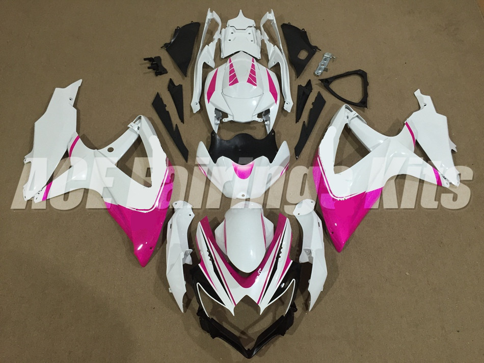 3Gifts New ABS Fairing Kit Fit For SUZUKI GSXR600 GSXR750 08 09 10 <font><b>600</b></font> 750 <font><b>K8</b></font> <font><b>GSXR</b></font> <font><b>600</b></font> 750 <font><b>2008</b></font> 2009 2010 custom pink white image