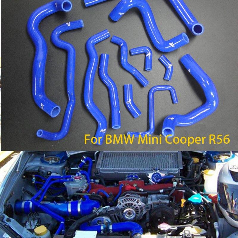 12 pcs/lot EMS Livraison gratuite Silicone Intercooler Turbo Radiateur Tuyau D'admission Pour Mini cooper R56 S 1.6 T 07 + TK-BMR004