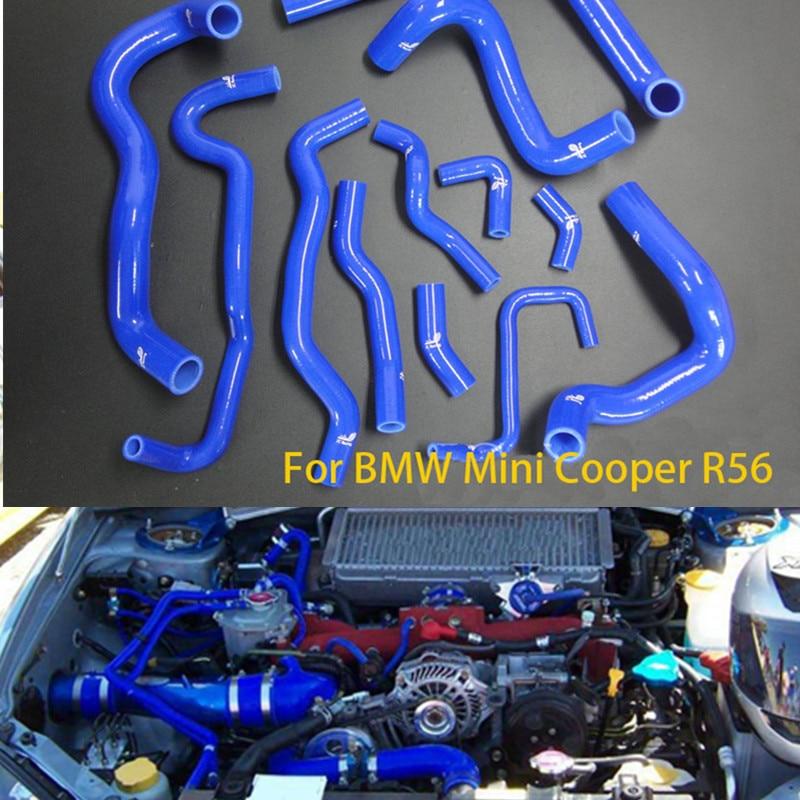 12 pcs/lot EMS livraison gratuite Silicone Intercooler Turbo tuyau d'admission pour Mini cooper R56 S 1.6 T 07 + TK-BMR004