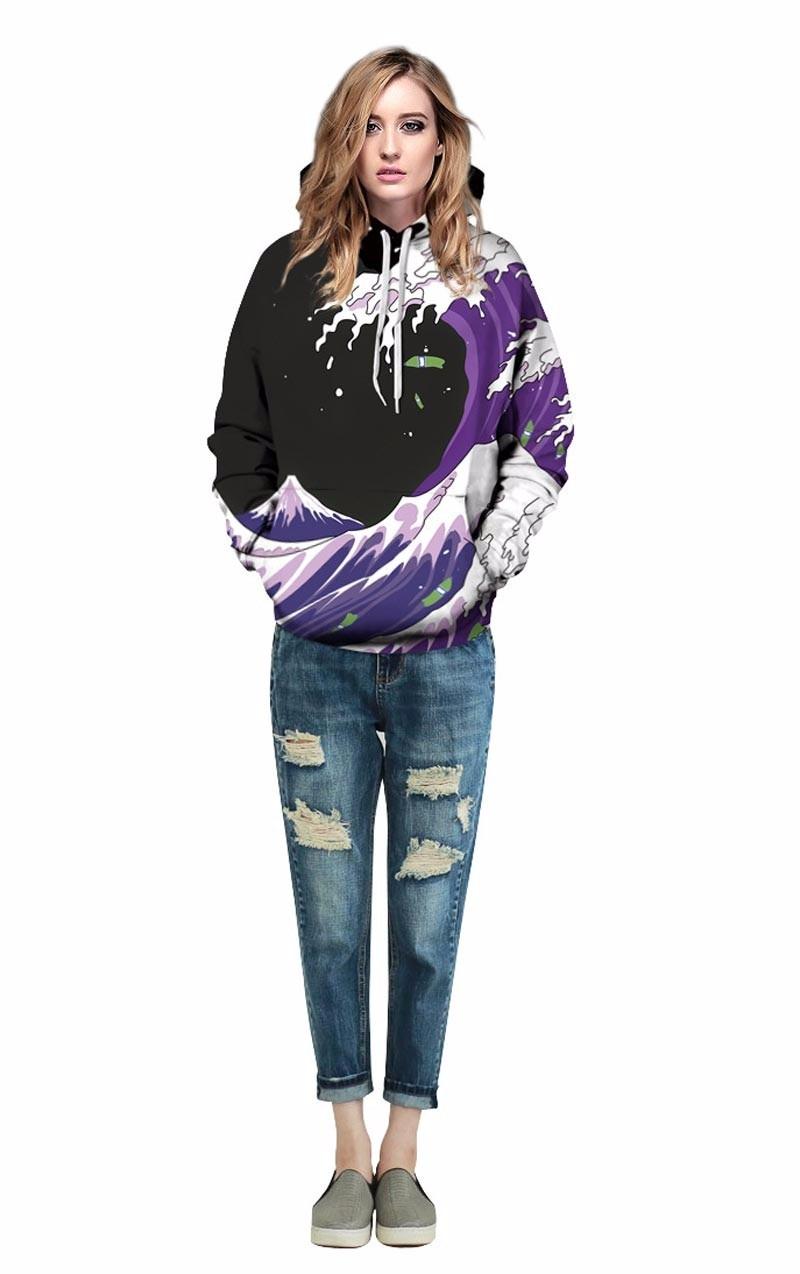 Mr.1991INC Autumn Winter Fashion Men/Women Hoodies Hooded With Hat Print Sea Waves Thin Style 3d Sweatshirts Men/Women Hoodies With Hat Print Sea Waves HTB1RJ1gOFXXXXb