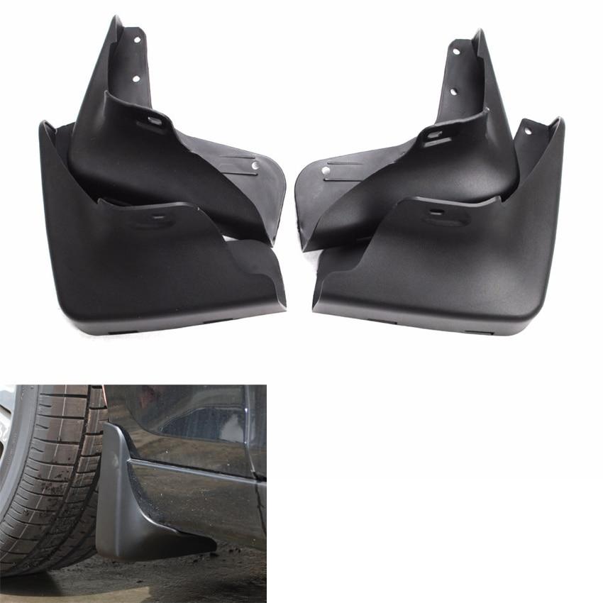 YAQUICKA 4Pcs Set Front Rear Black Mud Guards Splash Flaps Fender Prevent Dirt Mudguards Fit For
