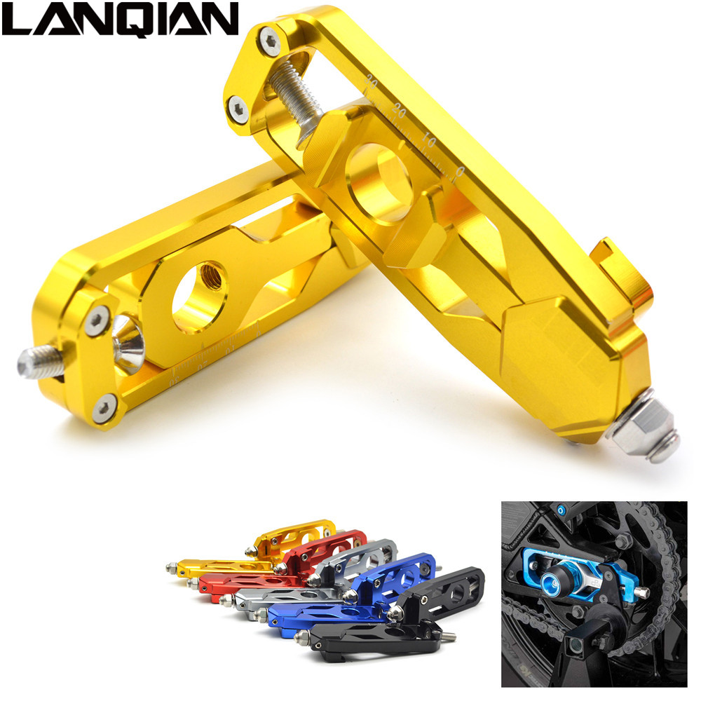 For yamaha MT-09 FZ-09 Motorcycle accessories CNC Rear Axle Spindle Chain Adjuster Tensioners Catena tracer FZ09 MT09 FZ MT 09 bjmoto for kawasaki z900 2017 motorcycle chain adjuster z 900 tensioner catena rear axle spindle chain adjuster parts