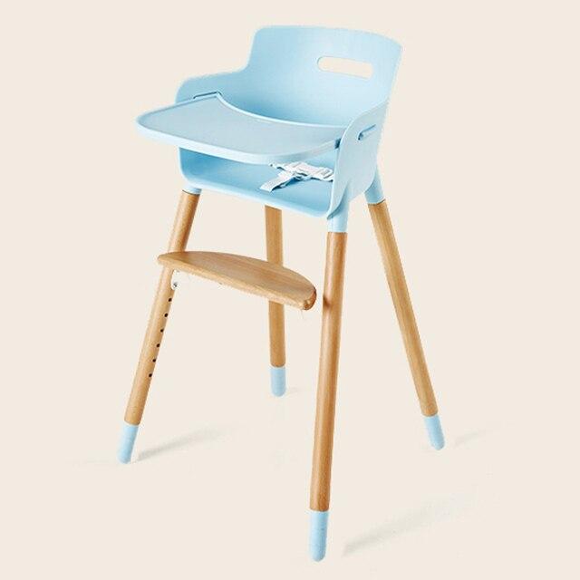 Soild Wood Baby High Chair Seat Adjustable Portable Baby Feeding Dining  Table Chair Seating Children Kids